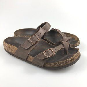 Birkenstock Womens Mayari 225 Leather Slide Sandal